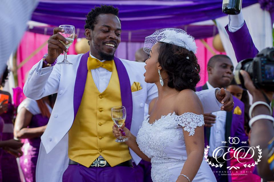kwaw kese wife wedding