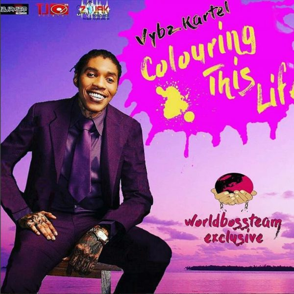 Vybz Kartel colouring this life artwork