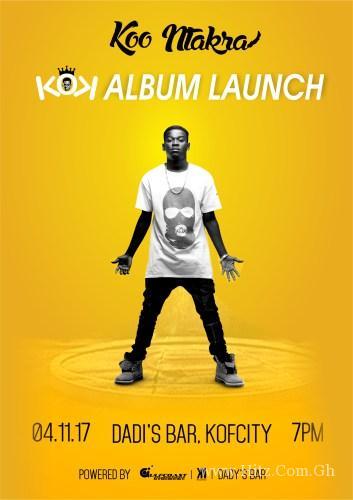 """Koo Ntakra to Launch """"KOK"""" Album on November"""