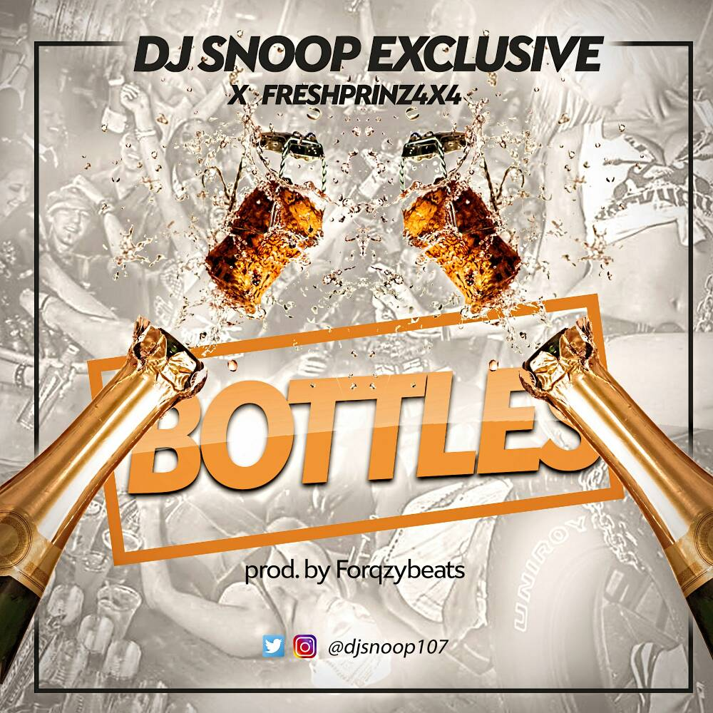 DJ Snoop Fresh Prinz bottles