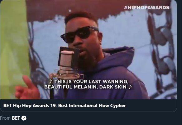 Sarkodie BET Hip hop Cypher 2019 (Freestyle)