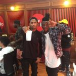 Photos: Stonebwoy records with Trey Songz