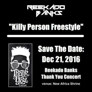Reekado Banks – Killy Person (Freestyle)