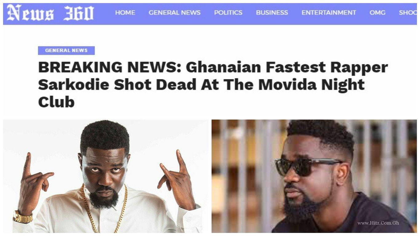 FALSE NEWS: Ghanaian rapper, SARKODIE is not DEAD, see his latest tweet (Snapshots)