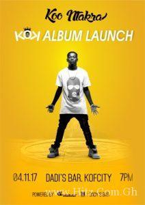 """Koo Ntakra to Launch """"KOK"""" Album on November 4"""