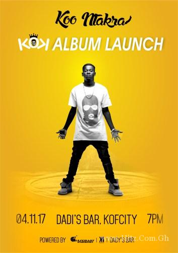 "Koo Ntakra to Launch ""KOK"" Album on November 4"