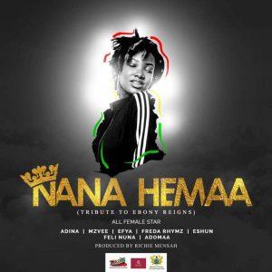 MUSIGA Nana Hemaa Ebony Tribute Feat Adina MzVee Efya Freda Rhymes Eshun Feli Nuna Adomaa 300x300 - Musiga ft Adina, MzVee, Efya, Freda Rhymz, eShun, Feli Nuna & Adomaa - Nana Hemaa (Ebony Tribute)