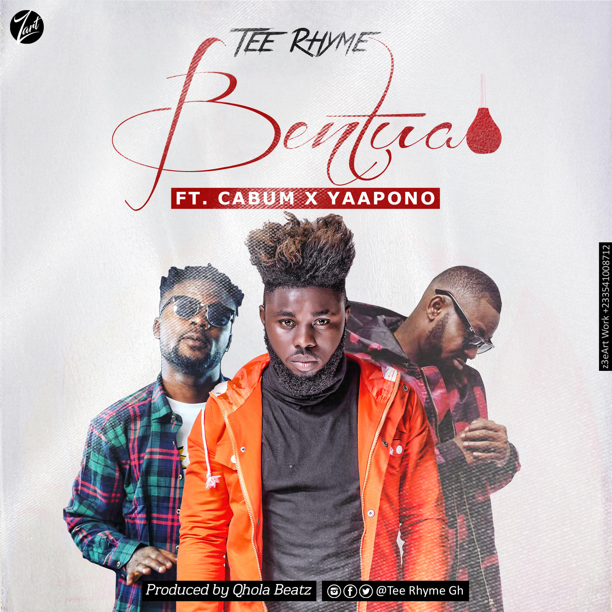 Tee Rhyme - Bentua Ft Cabum x Yaa Pono (Prod by Qhola Beatz)