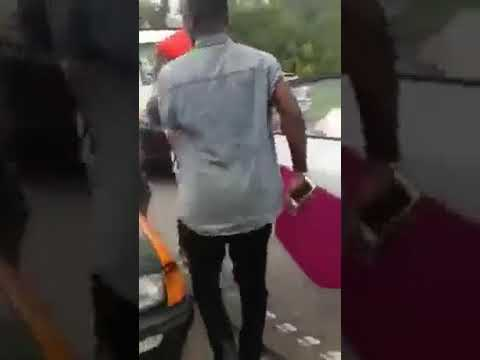 Video : Sarkodie Escapes Fatal Accident